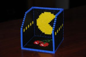 Perler Pacman Coaster Box by 64bitcrafts