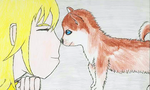 Namine and her Pomsky *response wanted* by KristenKHVerne