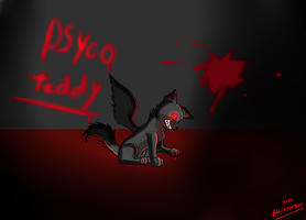my psyco teddy by Darkwolfhellhound
