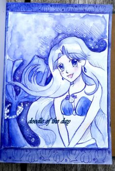 #328 Princess of the indigo pearl by LateAMdoodles