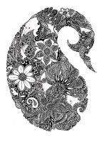 paisley design-black markers by bscube