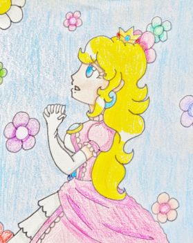 Waiting Peach-Hime by Punisher2006