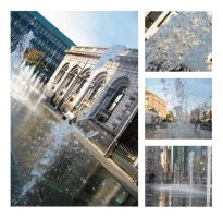 Fountains in Belfast by ph-Negative
