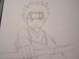 Young Kurogane by VenDuckie