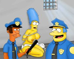 marge and the polise by kakabobo26