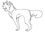 Wolf Dog Lineart PAINTVERSION by Ninjawoof