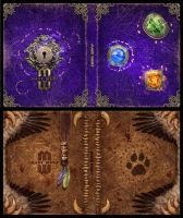 Mage Wars - Spell book sleeves - SET 7 by Deligaris