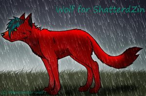 Wolf for ShatteredZin - NEW by Phantomstar-wolf7