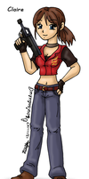 Claire Redfield by louisalulu