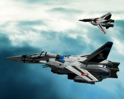 "Robotech Macross in 3D ""VF-1S"" by jedizebi"