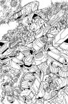 War for Cybertron lineart by markerguru