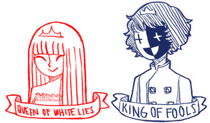 King of Fools and the Queen of White Lies by pekingchicken