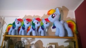 Rainbow Dash army by Sethaa