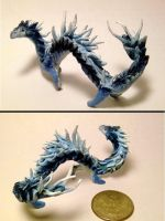 Blue Dragon Sculpture by superpsyduck