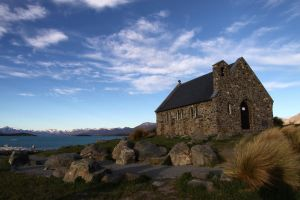 Lake Tekapo II by fire