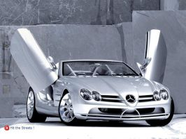 Mercedes Gullwing Logon by hugodaddy