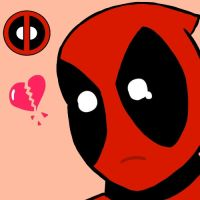 Heart-broken Deadpool by SylvieZ