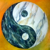 Marble Yin-Yang by dlighted