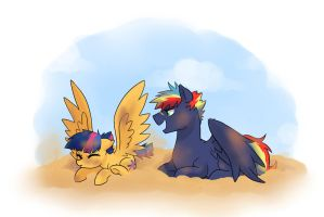 Dust Bath by kilala97