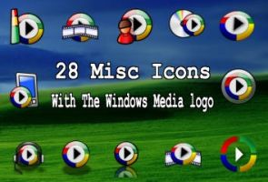 28 icons with wmp logo by zman3