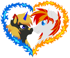 Elemental Moon + HeartFire Icons by Kimmorz
