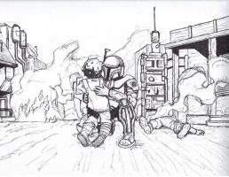 Mandalorian Father and Son by mando-christian