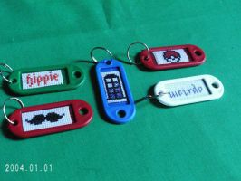 More geeky personality keychains by agorby00