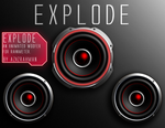 EXPLODE! Animated live woofer skin for rainmeter. by AzizStark