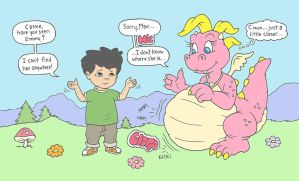 Dragon Tales Vore by brain3times3