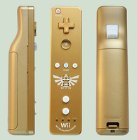 Golden wii remote by ilaaaria