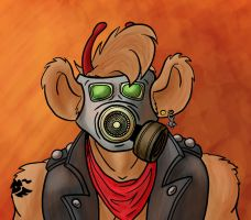 Throttle in gas mask by nkAlex