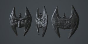 Mask of Shadows Pendant - Shadowman by KevinLongtime