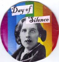 Day of Silence Button by DarkLadyOSonnets