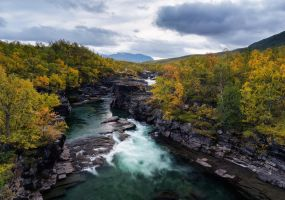 Abisko Canyon by CalleHoglund
