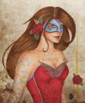 The rose maiden by Obscure-Beauty