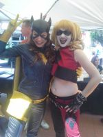 Batgirl and Harley Quinn by Bat13SJx