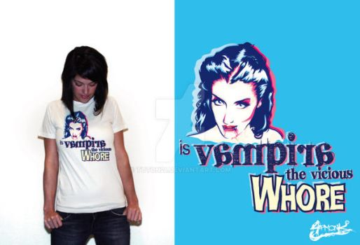 Vampira the vicious whore Tee by tuton21