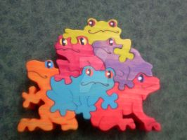 Frog Pile Puzzle by PeachieOriginals