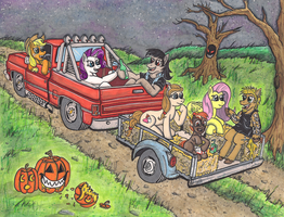 Nightmare Night hay ride by devilsreject493