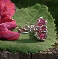 Rasberry Tourmaline Ring by AniqueDesigns