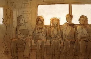 girl on train by sandara