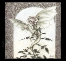 Dragon Rose - digital color by artaddict