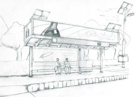 Indian Solar Bus Stop by corElement