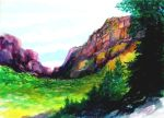 Painted Canyon by grogersart