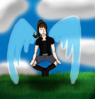 Winged Hero Girl: Meditation by Luciferspet