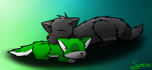 le sleeping by CoolCodeCat