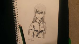 Decided to try my hand at Kurisu from Steins Gate. by Endangered-Jrad