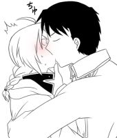 RoyEd doodle: Kiss me now by c0ralus