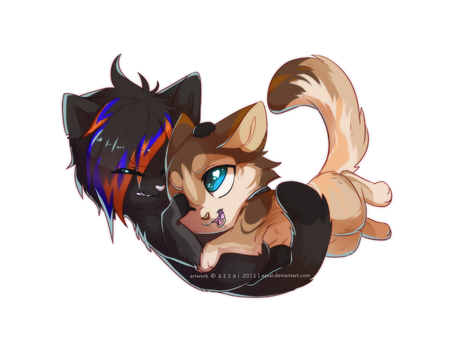 chibi_com_Nick and Victor by azzai