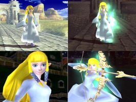 Multiple Pics of Zelda in White Dress by Demonslayerx8